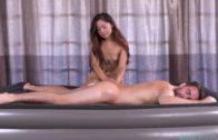 KinkySpa - Asian Beauty Elle Voneva gives a Nuru gel massage with a very happy ending