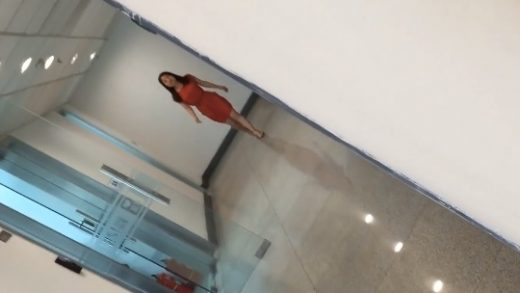 Chinese girl in orange dress pissing in game company - Chinese pissing porn video