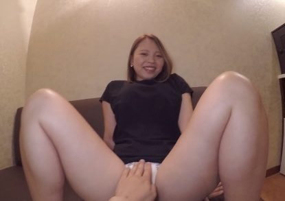 Japanese girl has a cute face and plump body