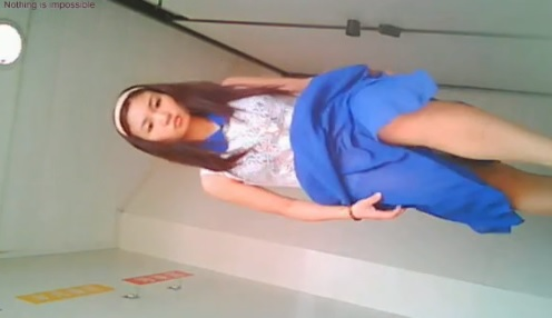 Secretly Filmed beautiful blue dress china girl peeing