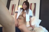 The black socks match well with the Japanese girl's sailor's clothes - big ass JAV