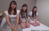 3 beautiful 19-year-old Japanese girls