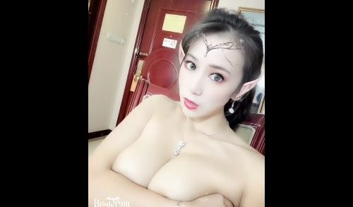 Beautiful Chinese female star with big breasts