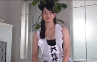 Japanese big tits woman sucks cock with pleasure