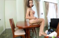 Nylon Strip Down with Thailand Small Tits Girl