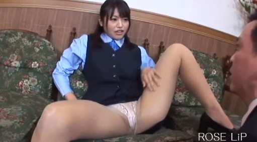 Smelling the filthy shorts of the beautiful japanese girl