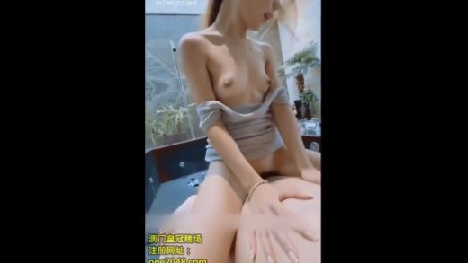 Cumshot sperm in the mouth of the beautiful Chinese girl