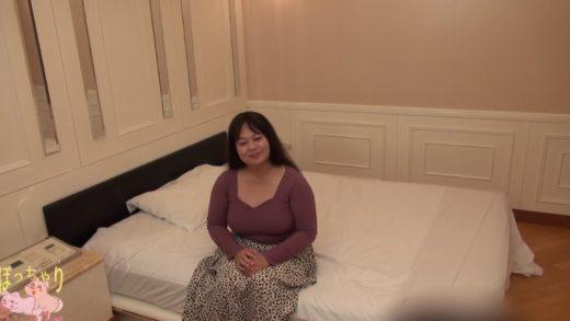 Japanese girl with big breasts in red bikini