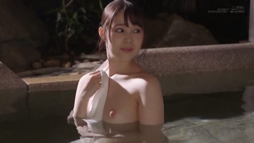 Japanese lascivious female employee working in hot spring