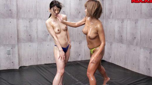 6000Kbps FHD Battle of the undressed Japanese Lesbian girls