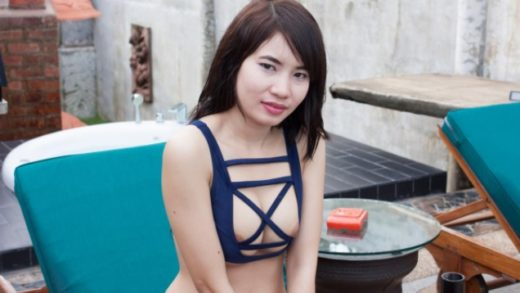 he had her change to an sexy swimsuit, titty fuck with Philippines girl
