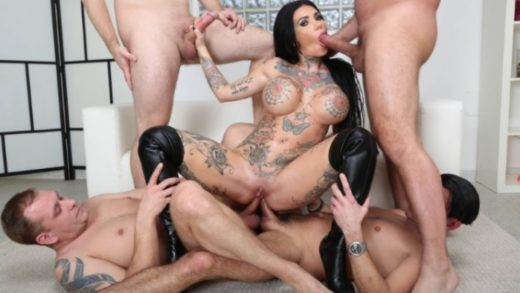 Megan Inky - Gangbang with Romanian Woman