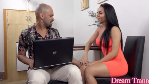 Andressa Paiva - Cock Really Cums With Some Help From Brazilian Trans Pornstar